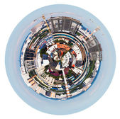 Urban spherical panorama of Moscow living district — Stock Photo