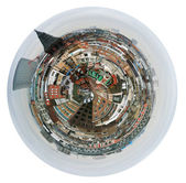 Spherical view of London houses — Stock Photo