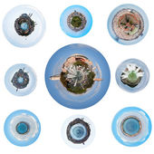 Spherical views of Istanbul, Turkey — Stock Photo