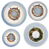 Spherical panoramas of Stockholm cit — Stock Photo