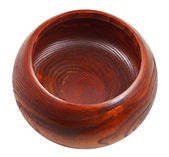 Empty Wooden bowl isolated — Foto Stock