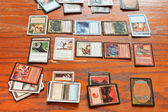 Playing field of card game Magic The Gathering — Stock Photo
