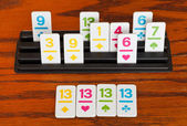 Playing in rummy game - group of cards — Stock Photo
