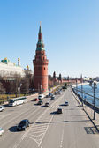 Kremlin Embankment in Moscow — Stock Photo