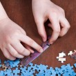 Linking of jigsaw puzzles — Stock Photo