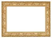 Ancient golden carved wide wooden picture frame — Stockfoto
