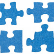 Set of blue little puzzle pieces — Stock Photo #45099215
