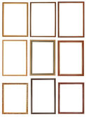 Set of decorative narrow wooden picture frames — Stock Photo