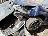 Two cars during road accident — Photo