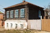 Wooden house of nineteenth century — Stock Photo