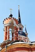 Towers of Nikolsky Cathedral in Mozhaysk Kremlin — Stock Photo