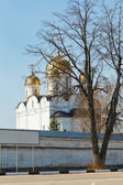 Old church in Luzhetsky Monastery in Russia — Stock Photo