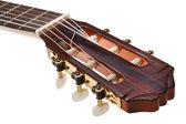 Tuning keys of classical guitar close up — Stock Photo