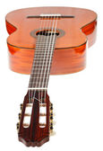 Fingerboard of classical acoustic guitar — 图库照片