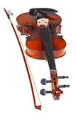Classical modern violin with french bow — Stock Photo