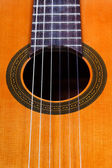 Sound hole of classical acoustic guitar — Stockfoto