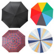 Top view of four different open umbrellas — Stock Photo #47385633