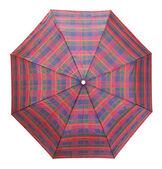 Vista superior de paraguas a cuadros — Foto de Stock