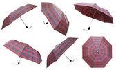 Set of telescopic checkered umbrellas — Stock Photo