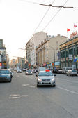 Dolgorukovskaya Street in Moscow in summer evening — Stock Photo