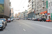Novoslobodskaya Street, Moscow in workday evening — Stock Photo