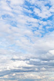 Cumuli white clouds in cloudy blue sky — Stock Photo