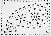 Paisley Abbildung auf weißem Leder perforiert — Stockfoto