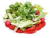 Fresh season vegetables on plate isolated — Stok fotoğraf