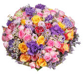 Bouquet of flowers from roses and chrysanthemums — Stock Photo