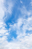 Cirrus and cumuli white clouds — Stock Photo