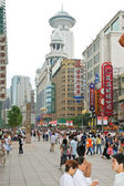 Nanjing Road - shopping street of Shanghai, China — Stock Photo
