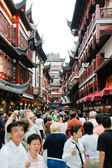 Many tourist on street in Shandhai Old City, China — Stock Photo