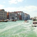 Постер, плакат: Water transport in Grand Canal Venice