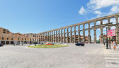 Ancient roman Aqueduct of Segovia, Spain — Stock Photo
