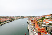 Above view of Porto city and river Douro — Stock Photo