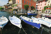 Mooring in Town Limone Sul Garda, Lake Garda — Stock Photo