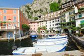 Waterfront in Town Limone Sul Garda, Lake Garda — Stock Photo
