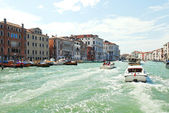 Water transport in Grand Canal, Venice — Stock Photo