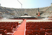 Interior del anfiteatro de la arena de verona ópera — Foto de Stock