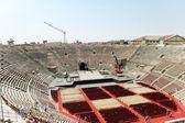 Por encima de la vista de la arena de verona anfiteatro interior — Foto de Stock