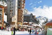 Main street in Avoriaz town in Alps, France — Stock Photo