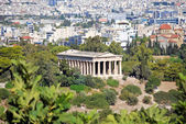 Temple of Hephaestus and Athens city — Stock Photo