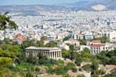 View of Athens city with Temple of Hephaestus — Stock Photo