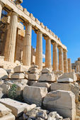 Columns of Parthenon temple, Athens, — Stock Photo