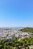 вид на город афины от акрополь, — Стоковое фото