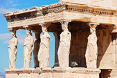 Statues of Porch of the karyatides, Athens — Stock Photo