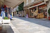 Small shopping street in Athens, Greece — Stock Photo