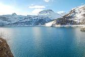 Lake Lac du Chevril in winter, France — Stock Photo