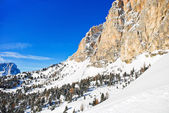 Slope of Dolomites mountain in Val Gardena — Стоковое фото