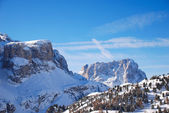 View of Dolomites mountain in Val Gardena — Stock Photo